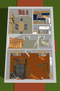 Erdgeschoss 3d visualisierung